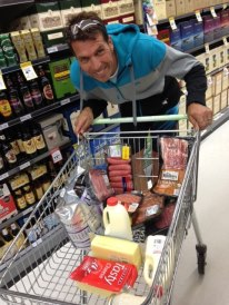 Grant Schofield doing the weekly LCHF shopping sans vegetables