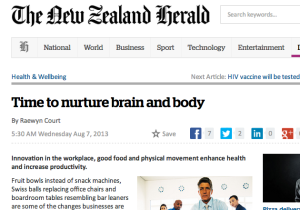 Time to nurture brain and body