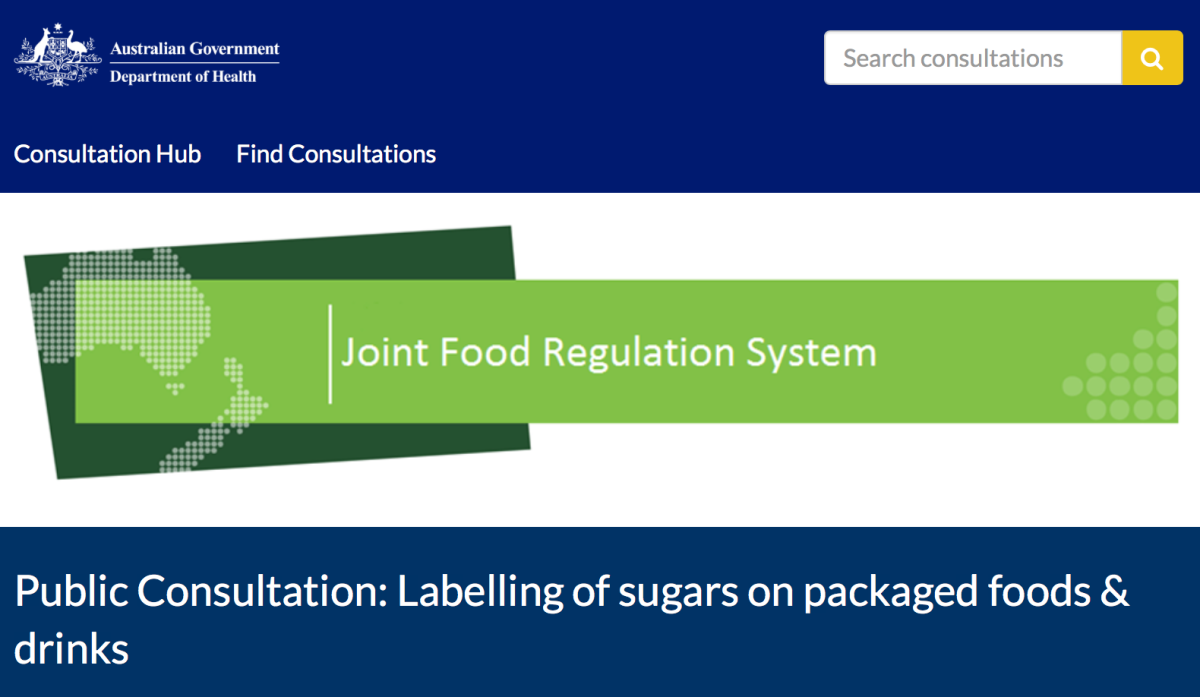 Democracy in action, food labelling and sugar. Have yoursay.
